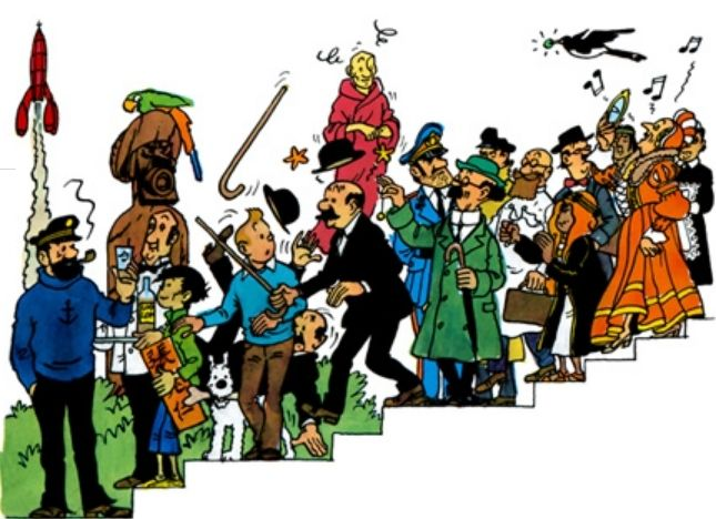 Well here they are, the Team Tintin.