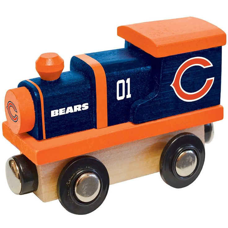 Chicago Bears Baby Wooden Train Toy, Multicolor