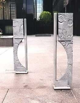 Bike racks as public art in a public space.