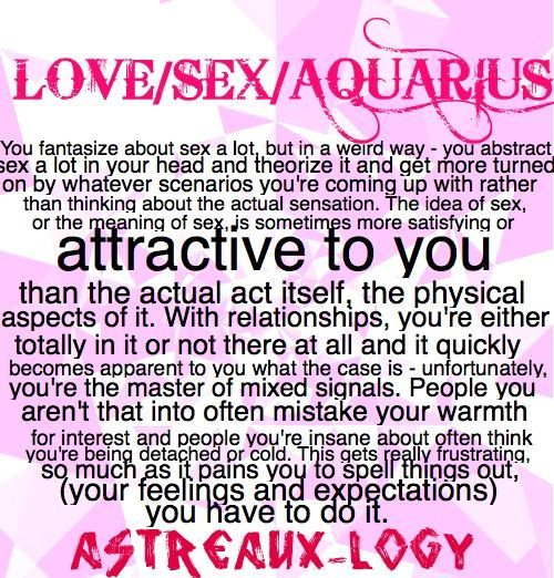 Aquarius Woman Sagittarius Man Sexually