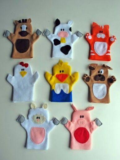 Marionette animali vari http://www.espacoinfantil.com.br/7-moldes-de-bichinhos-em-feltro-para-imprimir/