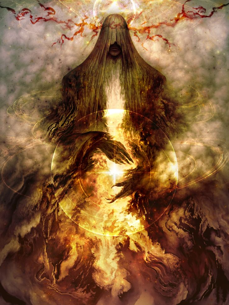 "Inner Light- ""Melkor was the most powerful of the Ainur. Because of his unique station, he sought to create wills in the manner of his own Creator, so he alone would venture sometimes into the Void in search of the Flame Imperishable, the Secret Fire, which would grant him this ability. But he never found it, as it is with Eru only"" source: emukee on tumblr"