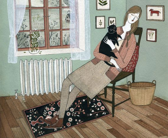 Cat Nap by Yelena Bryksenkova