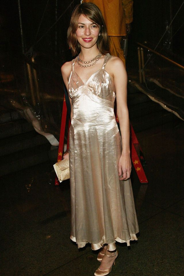Sofia Coppola attends the 'Dangerous Liaisons: Fashion and Furniture in the 18th Century' Costume Institute benefit gala on April 26, 2004.