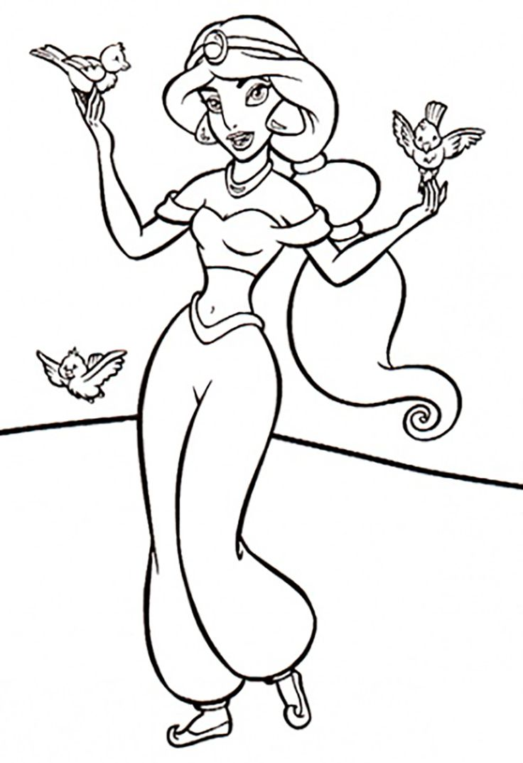 jasmine coloring pages to print - photo#17