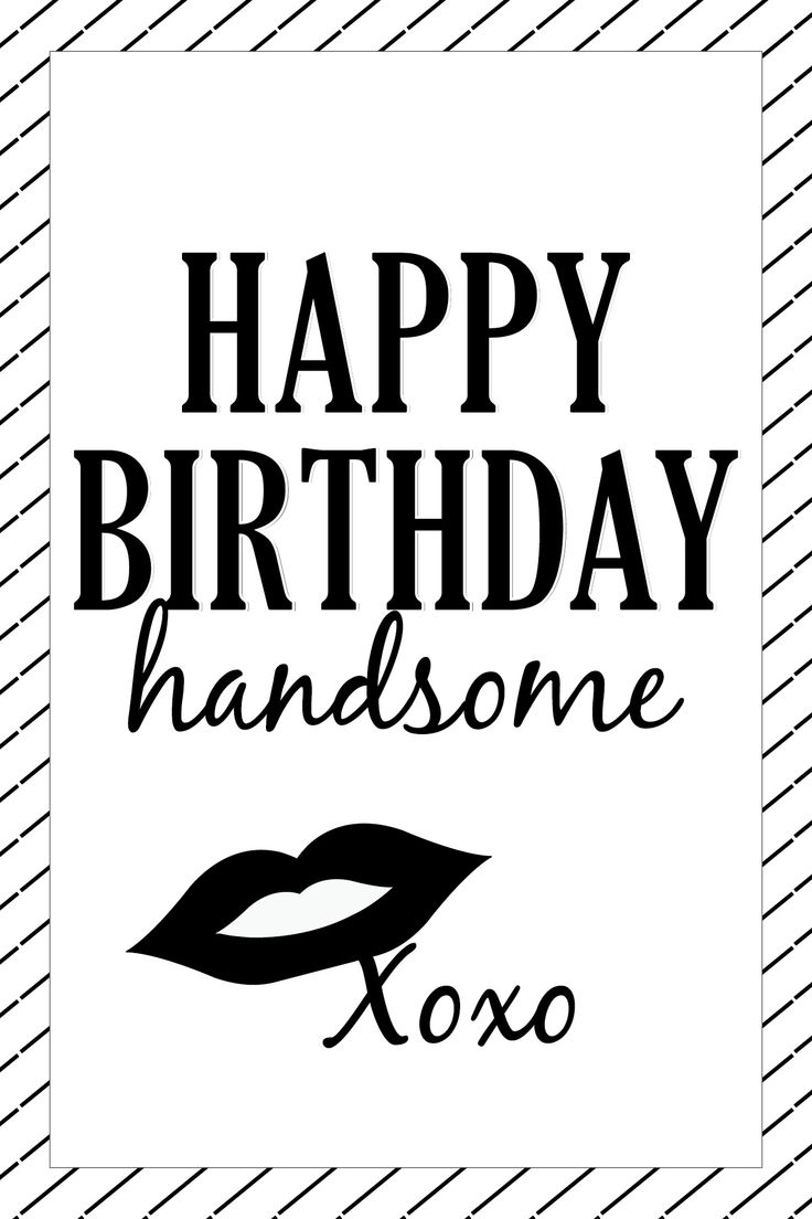 Happy Birthday Handsome - Card Design