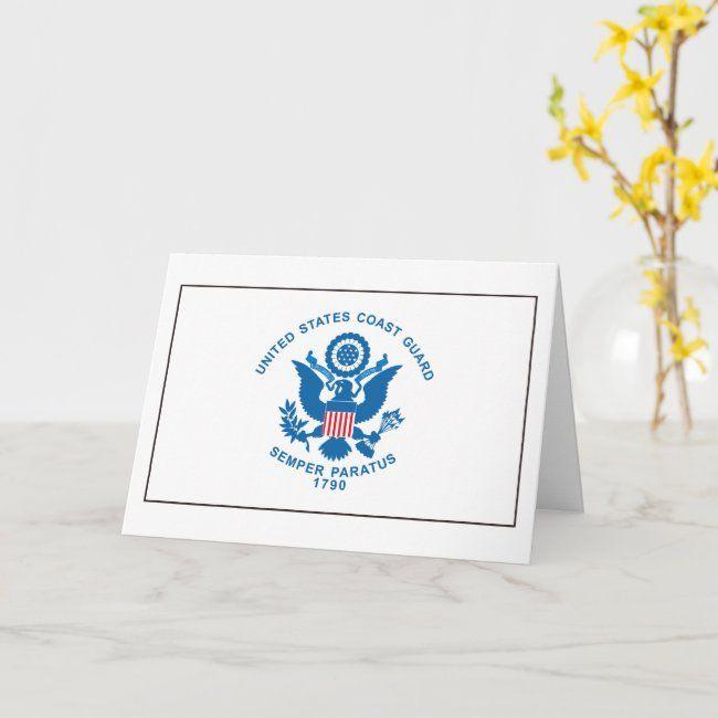U S Coast Guard Card Zazzle Com Cards Custom Greeting Cards Coast Guard