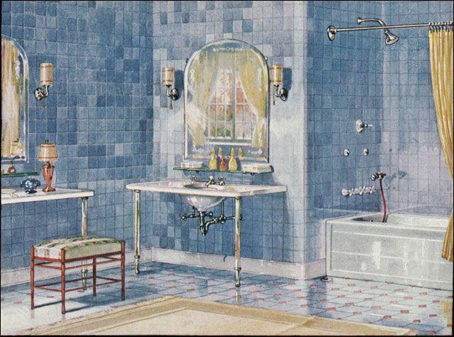 17 best images about bathrooms on pinterest art deco for Bathroom decor 1920 s
