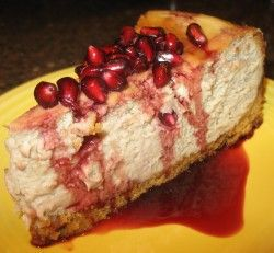 Pomegranate Cheesecake-Made for Brian's Bday, it was delish~