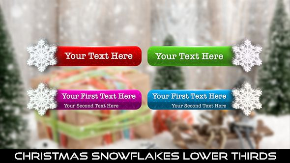 Christmas Snowflakes Lower Thirds  16 Lower Thirds | Full HD 1920×1080 | Quicktime PNG alpha codec | Each 10 seconds.  #videohive #motiongraphic #aftereffects #christmas #glow #holiday #jinglebells #joy #lowerthird #newyear #particles #party #seasonal #snow #snowflake #snowflakes #winter #xmas