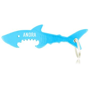 Wholesale distributor provides personalized Shark Dual Opener And Keyring, promotional logo Shark Dual Opener And Keyring and custom made Shark Dual Opener