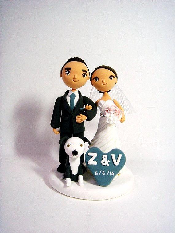 ClayphoryDoll  cute couple custom wedding cake topper by Clayphory, $165.00