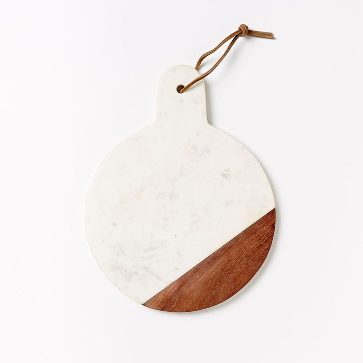 Marble + Wood Cutting Board - Paddle