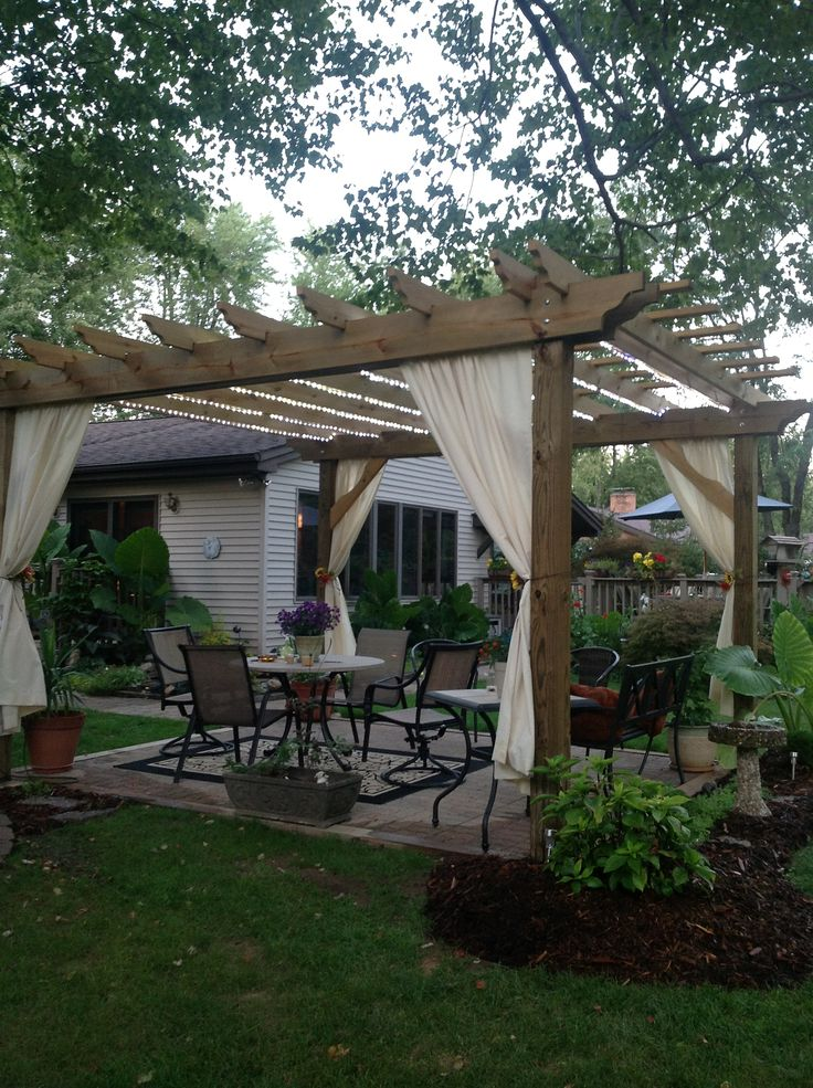 One of our pergolas up in Northern, Ohio. Robin and her husband finished it out beautifully!