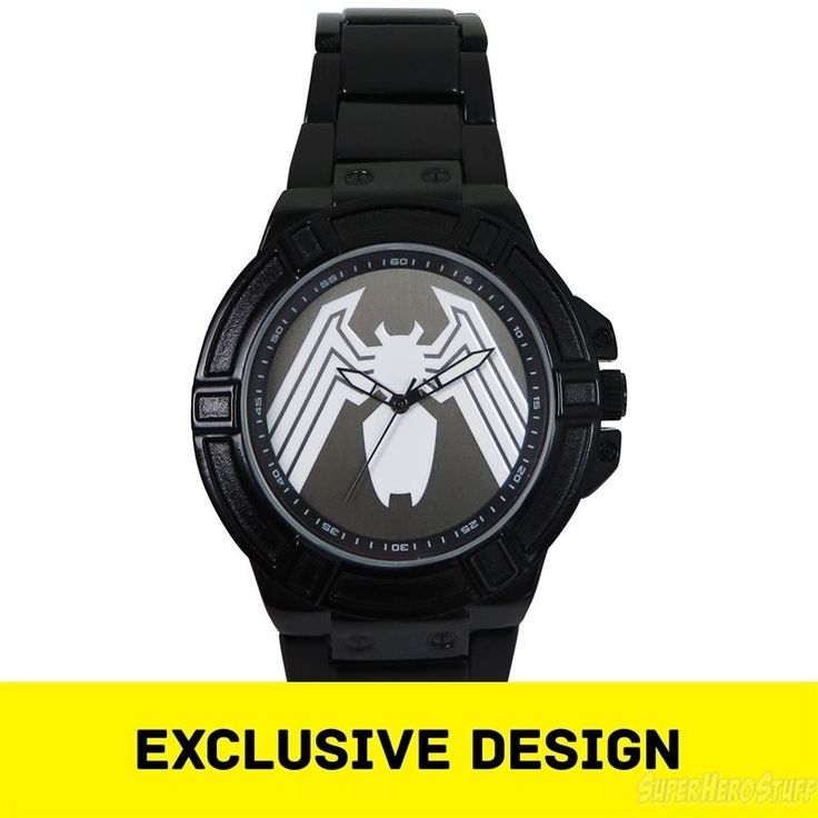 Venom Symbol Watch with Metal Band