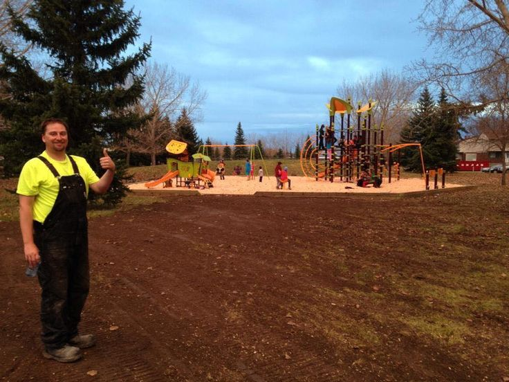 No better feeling then seeing happy children having a blast on a newly installed playground by Playgrounds-R-Us and Landscape Structures Inc.