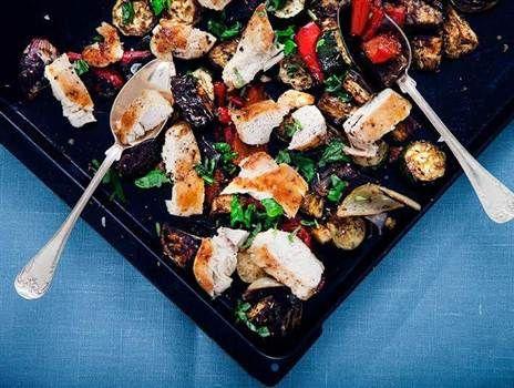 5:2 Kyckling med ugnsbakade medelhavsgrönsaker