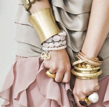 pastels with gold