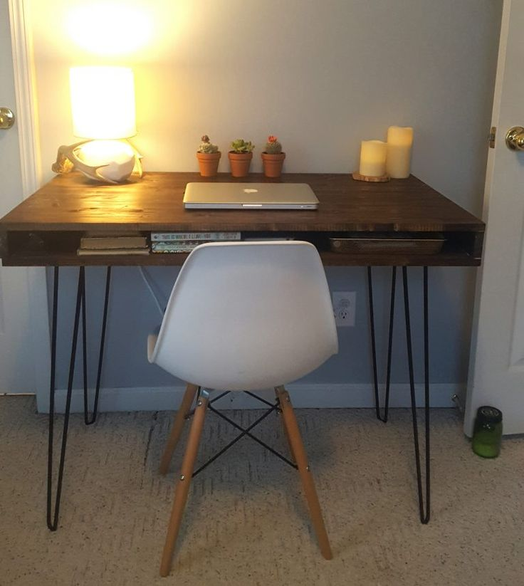 Mid Century Modern Desk Built By Reader Using Remodelaholic Plans