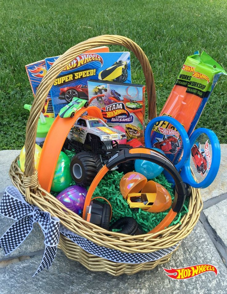 Create the ultimate Hot Wheels themed Easter basket. Find ideas for everything you need right here.