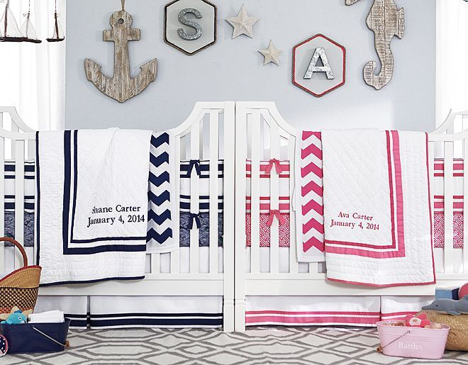Nautical navy nursery for boys or girls!