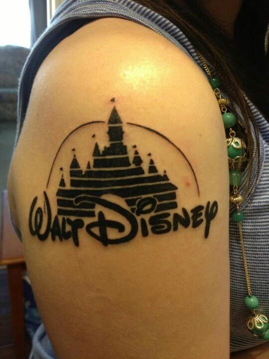 Disney castle tattoo tattooness pinterest disney for Disney world tattoos