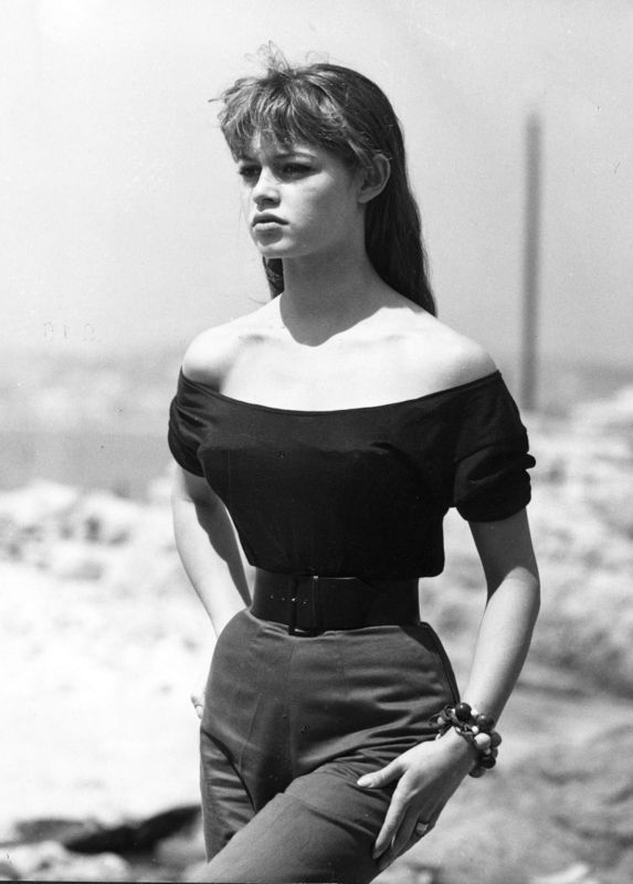 Brigitte Bardot in Cannes, 1955.