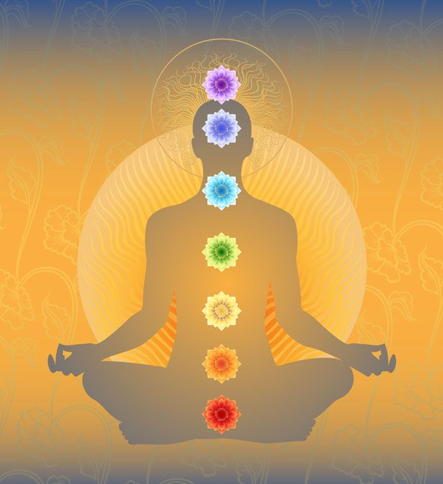 """Chakra, Sanskrit for """"spinning wheel of energy"""", signifies one of seven specific energy centers..."""