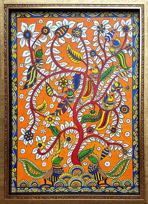 Oil On Canvas Art In 2019 Kalamkari Painting