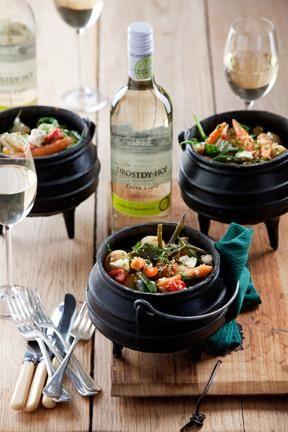 Mediterranean vegetable potjie | Mediterreense groentepotjie #recipe #braai