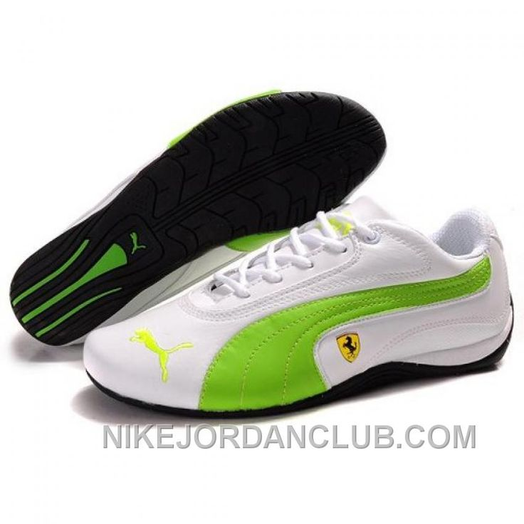 WOMEN'S PUMA FERRARI IN WHITE GREEN LASTEST Only $88.00 , Free Shipping!