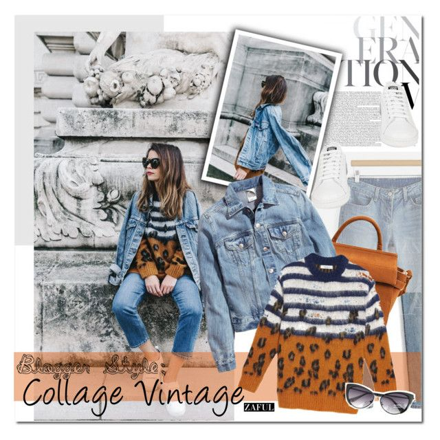 """Blogger Style: College Vintage"" by vanjazivadinovic ❤ liked on Polyvore featuring H&M, Sandro, adidas, vintage, BloggerStyle, polyvoreeditorial, collagevintage and zaful"