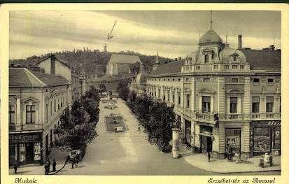 Miskolc. Erzsébet-tér az Avassal | Képeslapok | Hungaricana