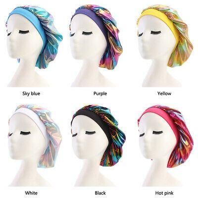 Women Lady Satin Headscarf Sleeping Bonnet Hair Wrap Cap Silk Headband Headwear …  – Hats