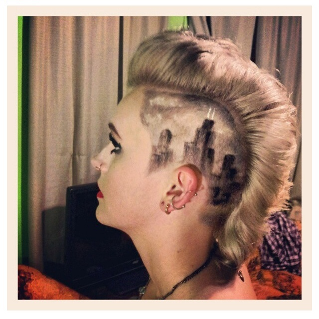 1000 images about tattoos body paint and other on pinterest for Tattoo hair line