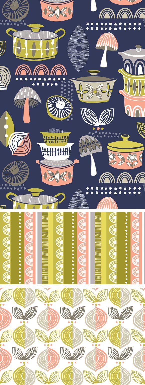 Wendy Kendall Designs Freelance Surface Pattern Designer Indigo Kitchen