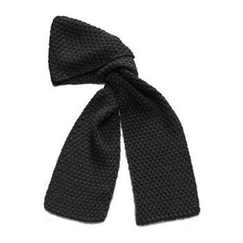 Calvin Klein Women's Black Metallic Knit Chunky Scarf