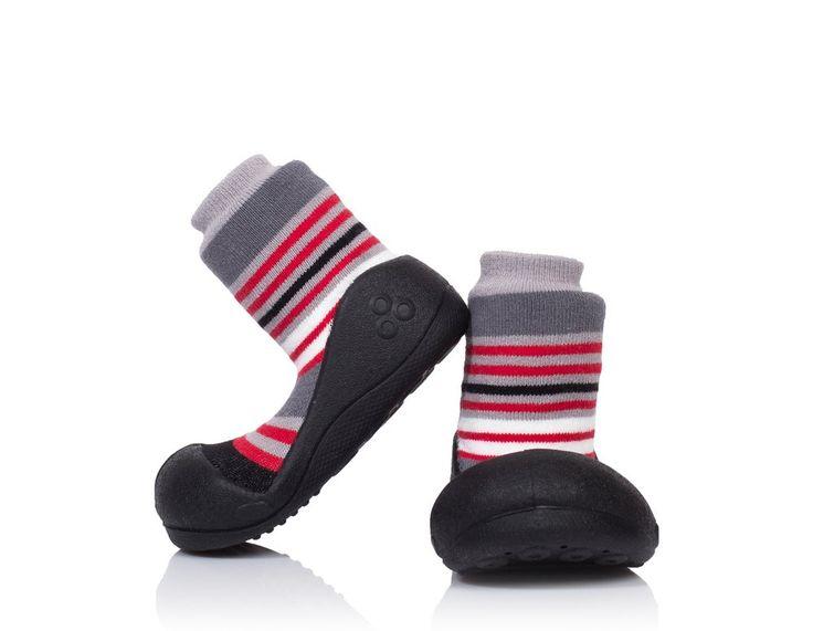 Doskonałe dla chłopca buciki - skarpetki Attipas Modern Black
