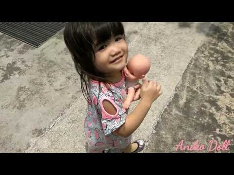 Little Girl With Sillicone Baby Doll, Miss Dolly Had A Dolly, Song For K...