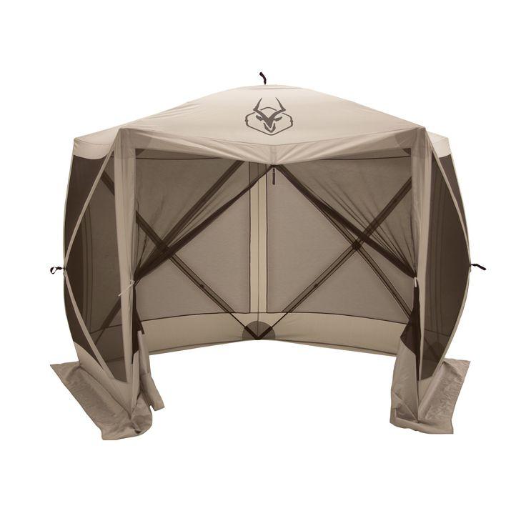 """Gazelle 5-Sided Pop-up Portable Gazebo Screen Tent, 4 Person 115"""" x 106"""""""