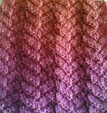 Mock Cable Stitch. Reversible, no cable needle required. A simple knit-purl combination, not even any traveling stitches or knit-togethers!