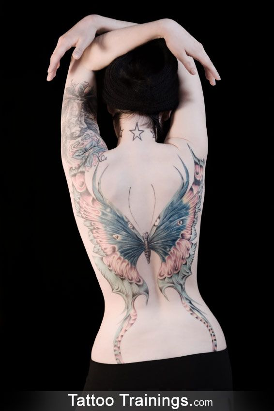 -Butterfly Tattoo espectacular...