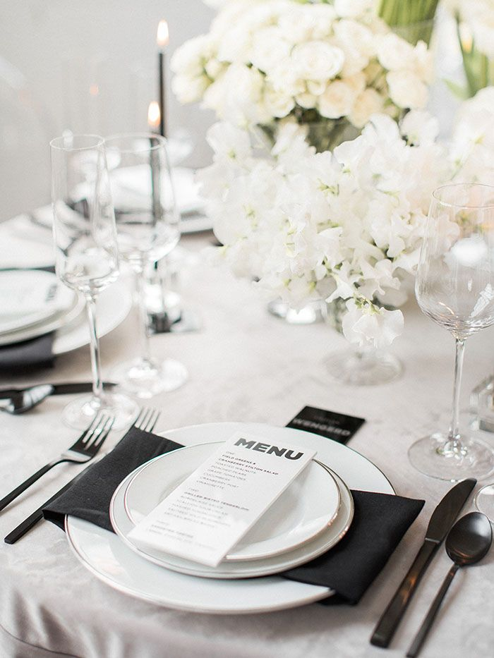 Modern Wedding Inspiration with Feminine Flowers and Masculine Details