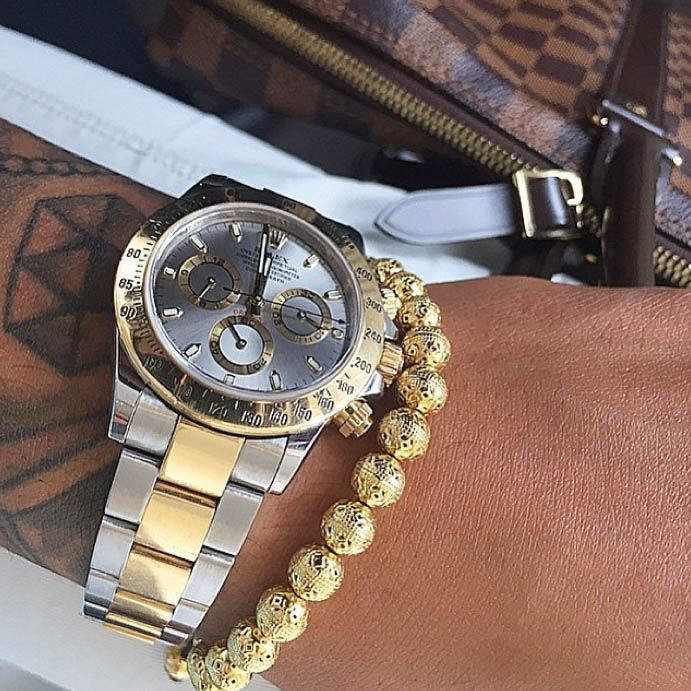 Love this men's gold bracelet from Nialaya