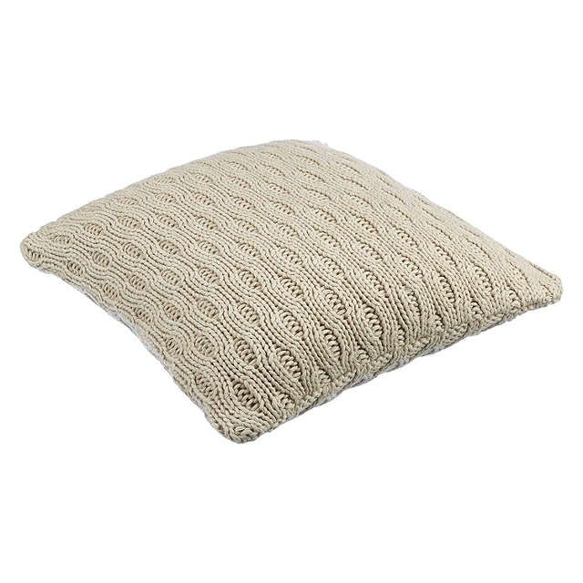 BuyJohn Lewis Croft Collection Cotton Chain Knit Cushion, Natural Online at johnlewis.com