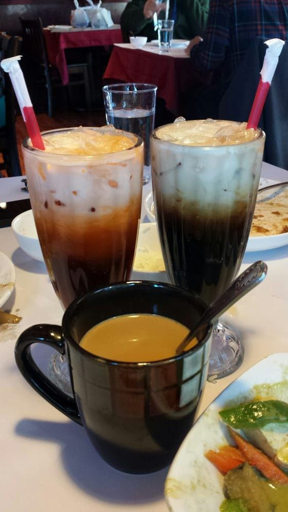 Tommy Thai (Mountain View, CA).  Awesome food with Thai Ice Tea, Thai Ice Coffee and Vietnamese Coffee