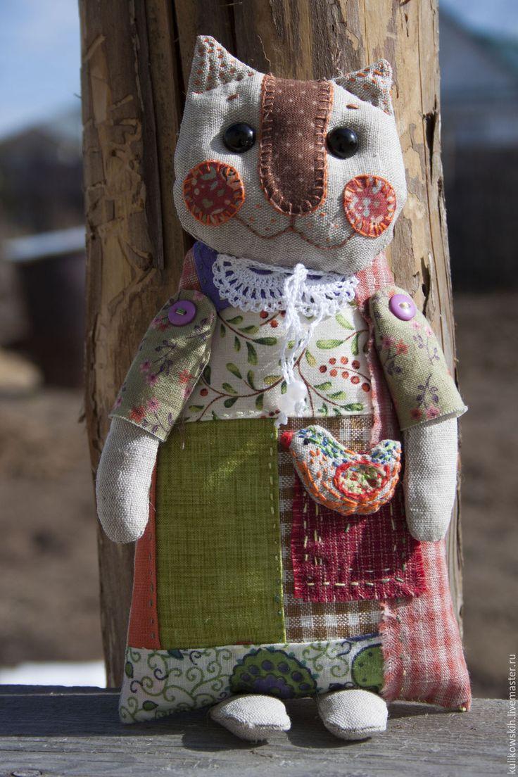 Купить Кукла текстильная Кошечка Фросенька - разноцветный, кошка, кошечка, коты и кошки, текстильная кукла