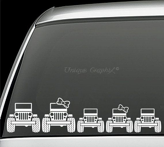 Jeep family decal window sticker