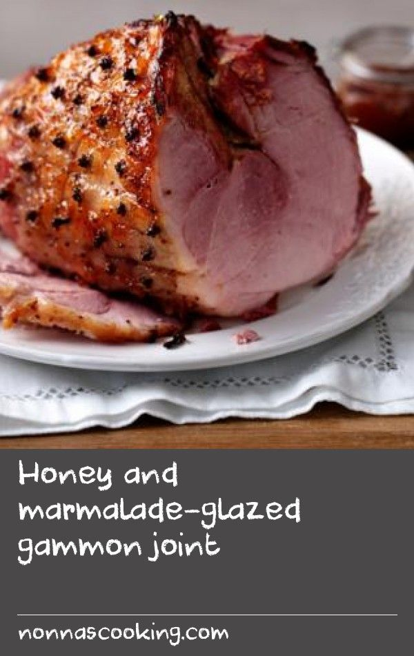 Honey and marmalade-glazed gammon joint |      This stunning gammon joint glazed with fruity marmalade and sticky honey is great for feeding a crowd.