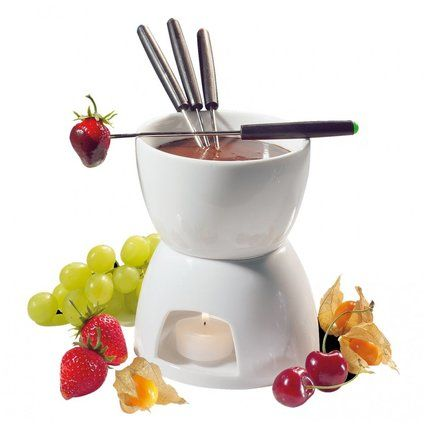 Wayfair.com - Online Home Store for Furniture, Decor, Outdoors & More Stoneware Chocolate Fondue Set - Perfect for your next romantic date night! #affiliate, #chocolate, #chocolatefondueset, #romantic, #entertaining, #datenight